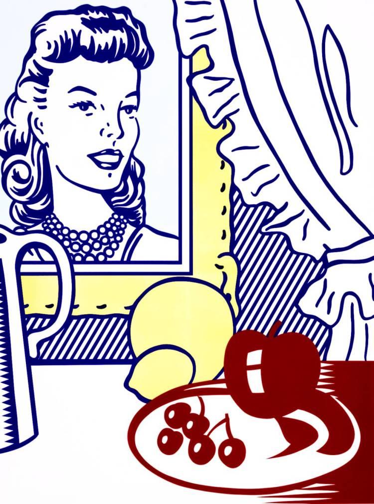 Still Life with Portrait from 'Six Still Lifes' 1974 by Roy Lichtenstein 1923-1997