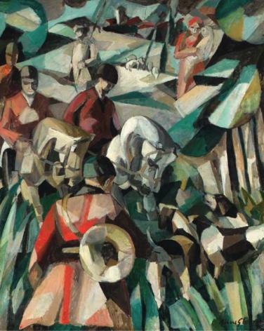 20150118140205!Albert_Gleizes,_La_Chasse,_1911,_oil_on_canvas,_123.2_x_99_cm
